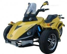 Wholesale vehicle: Roketa 250 Three Wheeled Roadster Motorcycle