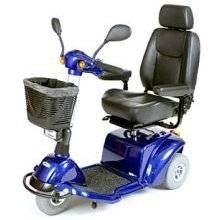 Wholesale mobile: Pilot 3-Wheel Power Mobility Scooter - Blue 18 W