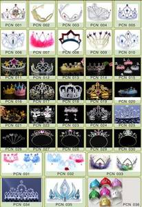 Wholesale Other Hair Accessories: Children Hair Accessory Kids Princess Tiara Plastic Princess Crown