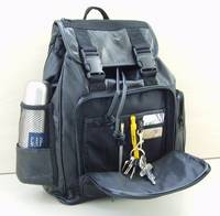 Patched Leather Backpack