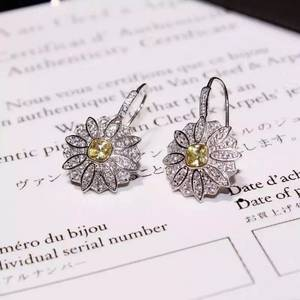 Wholesale gold earrings: 2016 NEW ARRIVAL NEFFLY Jewelry Necklace Daisy Flower EARRING S925 Silver 18K Gold Plated