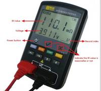 Voltage Tester Portable AC Resistance Tester for Universal Battery