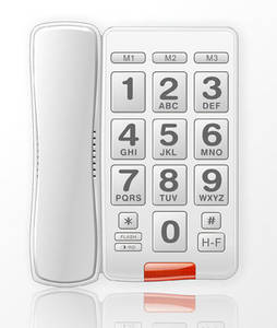Wholesale home phone: Basic Pulse / Tone Landline Analog Telephone,Big Button Phone for Home, Office and Hotel