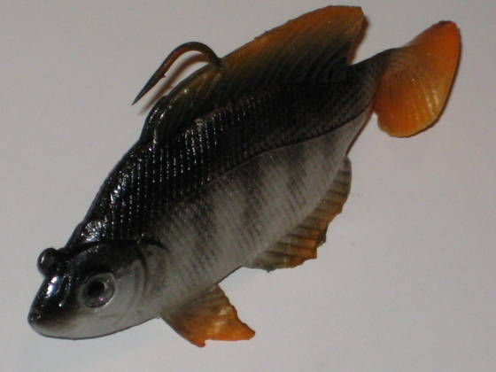 Real fish bait tilapia swimbait orange tail id 3895523 for Is tilapia a fake fish