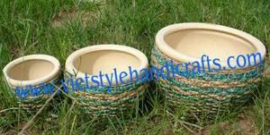 Wholesale water hyacinth furniture: Water Hyacinth Flower-pot