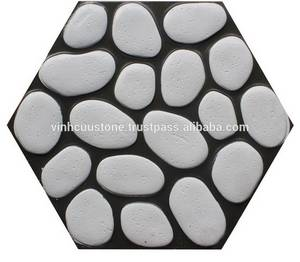 Wholesale stone: Pebble Stone Tile 400x400x 40 Mm
