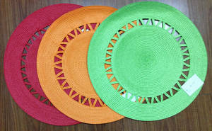 Wholesale pp placemat: PP Round Woven Placemat