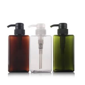Wholesale Shampoo Bottles: 450ml Plastic Square PETG Lotion Bottle Shampoo Pump Package Bottle