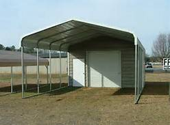 Wholesale wooden cars: Carport with Storage Shed