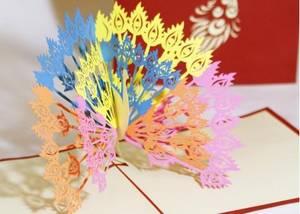 Wholesale art: Peacock 3D Pop Up Card Greeting Card