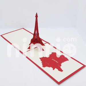 Wholesale handmade: Eiffel Tower Pop Up Card Handmade Greeting Card