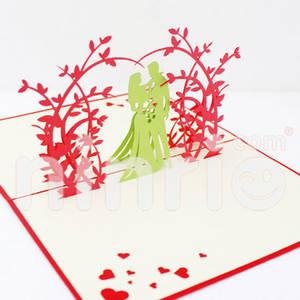Wholesale art: Sweet Wedding Pop Up Card Handmade Greeting Card