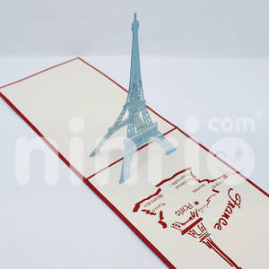 Wholesale handicraft: Eiffel Tower Pop Up Card Handmade Greeting Card