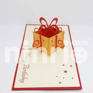 Wholesale gift: Gift Box Pop Up Card Handmade Greeting Card