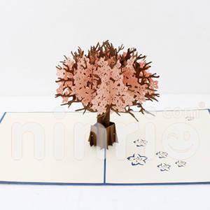 Wholesale handicrafts: Cherry Blossom Pop Up Card Handmade Greeting Card