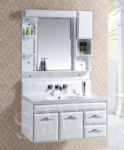 Wholesale mirror cabinet: Smile 2015 Bathroom Wall-Mounted Cabinet with Mirror