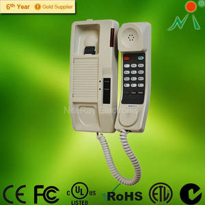 Wholesale Corded Telephones: Q600 Bathroom Corded Phone Wall Mount Phone for Phone Booths