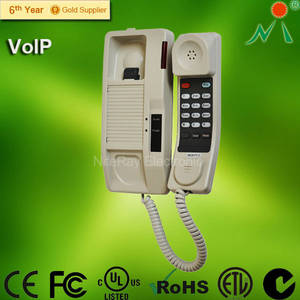 Wholesale sip phone voip phone: VoIP SIP Hotel Bathroom Corded Telephone Q700 Low Price Phone