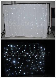 Wholesale light curtain: White Leds Backdrop Pro Stage Lights Dmx LED Star Cloth Curtain