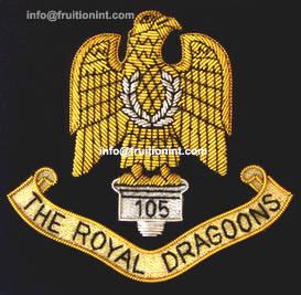 Wholesale school uniform embroidered badge: Hand Made Bullion Wired Blazer Badge
