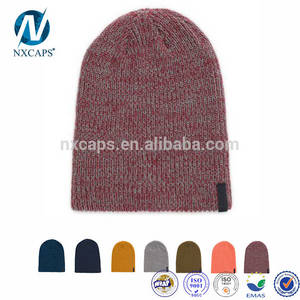 Wholesale woven patch: Knitted Beanie Hat Custom Beanie Hats Knit Winter Hats Wholesale