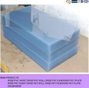 Wholesale transparent pvc sheet: Transparent Rigid Plastic PVC Sheet