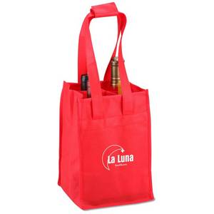 Wholesale Speciality & Promotional Bags: Non-woven Four Bottle Bag