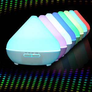 Wholesale natural air cool pack: Anion Aroma Diffuser 300ml Round Plastic White with Multicolored LED Lights for Office