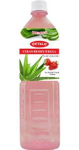 Wholesale drink: OKYALO Wholesale 1.5L Aloe Vera Juice Drink with Strawberry Flavor