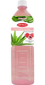 Wholesale beverage: OKYALO Wholesale 1.5L Aloe Vera Juice Drink with Lychee Flavor