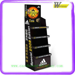 Wholesale Advertising Design: Corrugated Cardboard Tray Display Stand for Modity Promotion