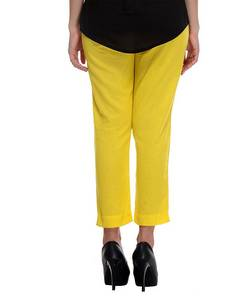Wholesale online shopping india: W Smart Casual YELLOW TROUSER