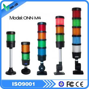 Wholesale easy maintenance lighting poles: M4 LED Stack Tower Light for CNC Machine Flashing Red Warning Light