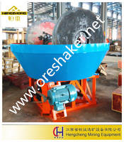 Two Wheel Ore Grinding Machine Edge Runner Mill China Wet Pan Mill for Gold