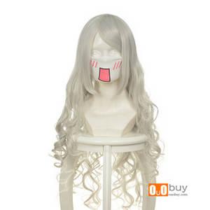 Wholesale wig: Selling Angel Sanctuary Rarizonaiel Raziel Silver White Long Curly Cosply Wig
