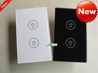 Sell US 2 gang touch wall switch with blue LED indicator