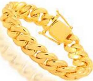 Wholesale 14k bracelets: 10 Kt To 24 Kt Solid Yellow Gold Cuban Chains Necklaces&Bracelets