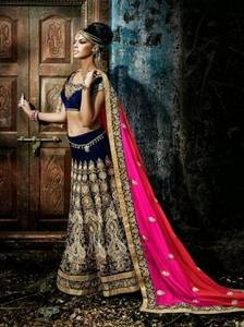 Wholesale embroidered lehenga choli: Designer and Bridal Lehenga