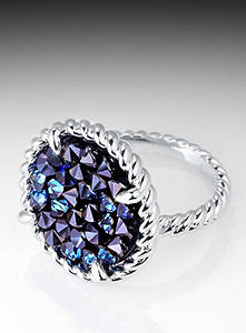 crystal rock: Sell Twisted Crystal Rock Ring (1828)