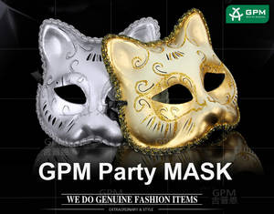 Wholesale sanitary face mask: A Beautiful Paper Material Half Face Cat Fox Female Mask for Half Face Mask for Dance Party