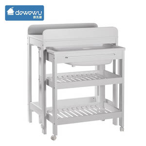 Wholesale Nursery Furniture & Decor: Change Table with Bath Lockable Wheels