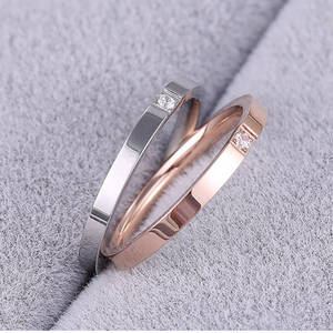 Wholesale Rings: Stainless Steel Ring with Stone Wholesale Fashion Jewelry