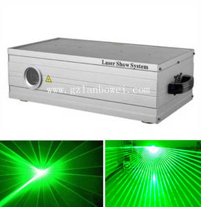 Wholesale green laser light: 1W 5W Single Green Color Animation Laser Light