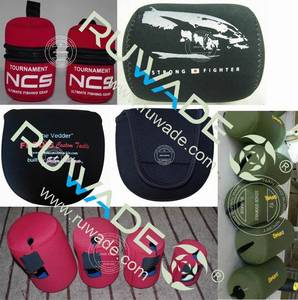 Wholesale fly fishing reel: Neoprene Fly Spinning Fishing Reel Case Pouch Cover