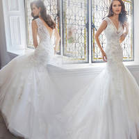 Wedding Dresses Sexy Luxury Backless Lace Sheer Tulle Wedding Dresses