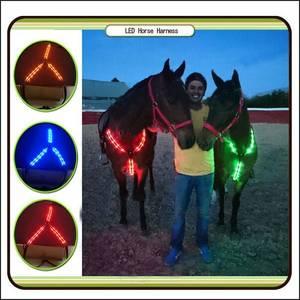 Wholesale Horse Racing: LED Horse Harness Illuminated Halter Bridle Light for Horse