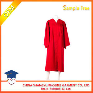 Wholesale Uniforms & Workwear: Fluting BA Bachelor Red Graduation Gowns and Caps Graduation Gown