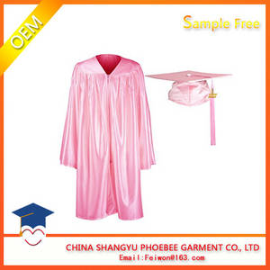 Wholesale polyester tag: High Qualtity Children Graduation Gowns and Caps