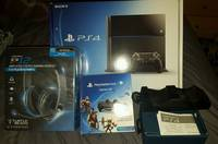 Original Sales for Sonys PlayStationS 4 PS4 500GB + 15 GAMES & 2 Controllers