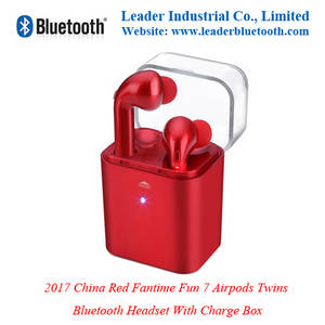 Wholesale Earphone & Headphone: 2017 China Red Fantime Fun 7 Airpods Bluetooth Headst Charge Case by Leaderbluetooth